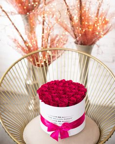 Happy New Year! Get 2021 off to the right start with real roses that will keep your space looking fresh for years to come! Metallic Colors, Bold Colors, Million Roses, Hot Pink Roses, Preserved Roses, White Box, Classic Collection, Favorite Color, Valentines