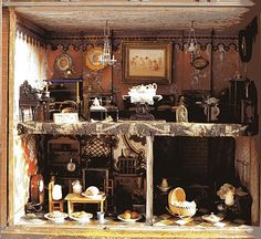 """Another view of Miss Potter's doll house, which was made for her by her first love, Norman Warne. You can see the house in the upstairs """"treasure room"""" at Hill Top Farm."""