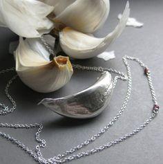 silver garlic necklace