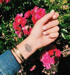 Lotus Temporary Tattoo!