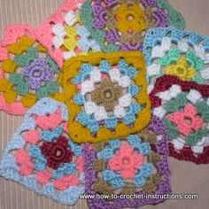 How to crochet granny squares -- easy tutorial
