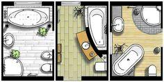 Ein Bad - drei Grundrisse
