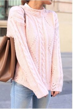 Baby pink knitted sweater