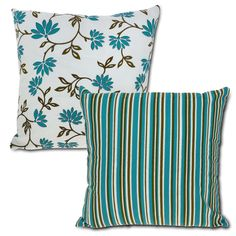 Amazon.com - Cotton Pillowcase Cushion Cover Blue Striped Floral Summer Decor Indian -