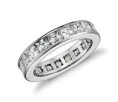 Asscher Cut Channel-Set Ring