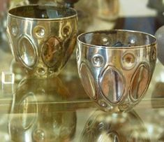 Chased Silver Cups found in Strongbox at Pompeii M useo  Nazionale di Naples