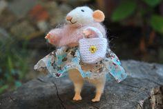 Lindo mouse fieltro aguja fieltro animal de ratón lana ratón