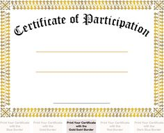 Basketball Participation Certificate Certificate