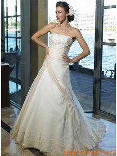 Romantico Elegantii senza spalline Ricami corsetto  Modestoo Estate  Weddingg Vestire 2011