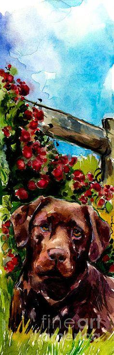 Chocolate Raspberry Fields Painting  - Chocolate Raspberry Fields Fine Art Print