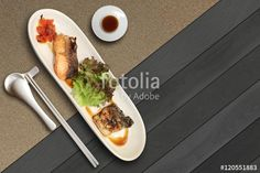 """Download the royalty-free photo """"Saba and Salmon fish set."""" created by ekapolsira at the lowest price on Fotolia.com. Browse our cheap image bank online to find the perfect stock photo for your marketing projects!"""