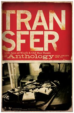 Transfer Posters #graphicdesign, #poster, #musicdesign, #branding, #print