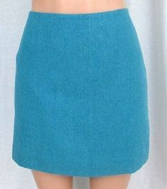 J Crew Sz 8 Turquoise Herringbone Wool Blend Mini Skirt Above Knee A-Line Lined #JCREW #ALine #Career
