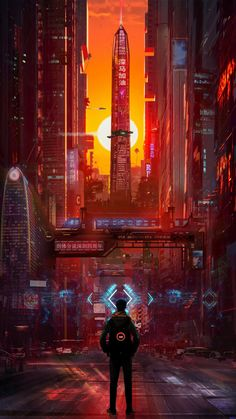 Edge of the light side and dark side of Calisto - Tail Ave Arte Cyberpunk, Cyberpunk Aesthetic, Cyberpunk City, Futuristic City, City Aesthetic, Fantasy Landscape, Fantasy Art, The Wolf Among Us, Sci Fi City