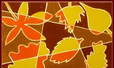 You need: white drawing paper A4 size pencil ruler tempera paint brushes gold colour marker Ask students to take autumn leaves. Watch them t...