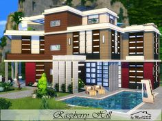 Raspberry Hill is a huge modern house built on 30x30 lot in Windenburg.  Found in TSR Category 'Sims 4 Residential Lots'