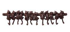 Shelf Cats Wieszak Wiszący Kotki Brązowy - 76698