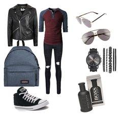 """bac to school boy"" by johanna14130 on Polyvore featuring AMIRI, Converse, Topman, Gucci, BOSS Hugo Boss, Eastpak, men's fashion et menswear"