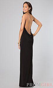 Buy Floor Length Open Back Dress at PromGirl