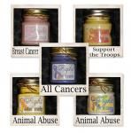 'My favorite Granny's Kountry #Candles creation' #8oz Awareness Candles $6.95 Vote for me my favorite one because of Awareness