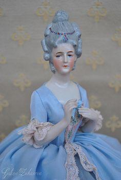 Antique half doll. Goebel