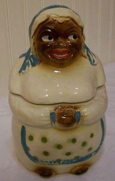 Vintage Cookie Jar Mammy National Silver by AletaFordBakerDesign