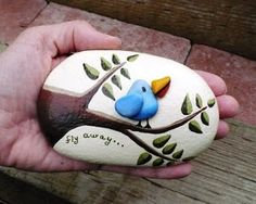 """Original Art by Dianne Hoffman: I am now painting rocks! In August 2010, I began painting rocks in acrylic. Here are my first """"Painted Pebbles""""."""