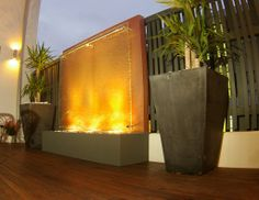 Glass front water wall kit | contemporary water feature | www.watergardenwarehouse.com.au