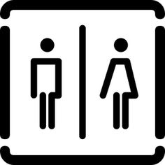 INOXSIGN W.06.R Vintage Toilet Sign with Arrow Self-Adhesive