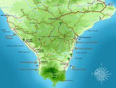 Snorkeling Map « Montezuma Costa Rica