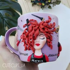 Polymer Clay People, Polymer Clay Ornaments, Cute Polymer Clay, Polymer Clay Dolls, Polymer Clay Charms, Polymer Clay Projects, Polymer Clay Jewelry, Mug Crafts, Clay Crafts