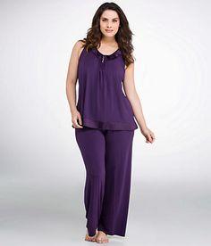 Midnight by Carole Hochman Elegant Slumber Modal Pajama Set Plus Size Sleepwear 139801X at BareNecessities.com