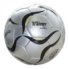 "Minge fotbal ""Trainer' (argintie), marimea 5 Soccer Ball, Trainers, Sports, Balls, Tennis, Hs Sports, European Football, Sport, Futbol"