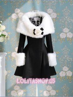 http://www.lolitashop.us/Pomposo-Black-And-White-Fur-Flower-Winter-Lolita-Cloth-Coat-LC49.html