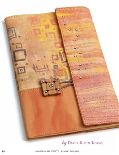 Quilted Notebook Covers with Diane Rusin Doran as seen on Quilting Arts TV episode 805 - Quilting Daily