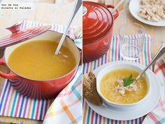 Receta de sopa de pollo casera.Receta con fotos del paso a paso y sugerencias de presentación.Trucos y consejos de elaboración.Recetas de sopas y cremas