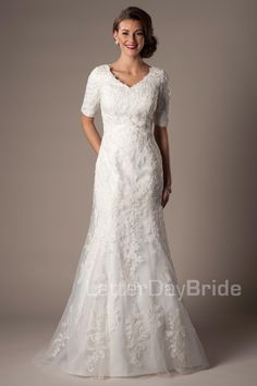 Paulista $915 http://latterdaybride.com/modest-wedding-dresses/paulista-details