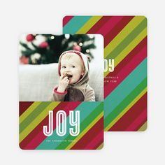 Joyful Stripes Holiday Cards from Paper Culture