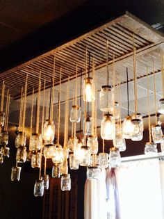 Beautiful DIY mason jar chandelier