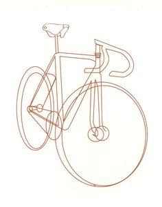 bike bicycle sketch illustration silkscreen print by chloemarty