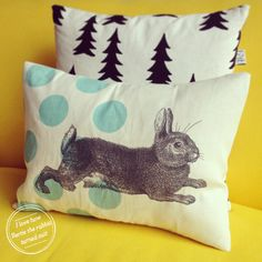 DIY: Thornback screen printed pillow case