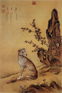 Reverend Giuseppe Castiglione, (Láng Shìníng) (1688 – 1766) was an Italian painter, court artist and Jesuit missionary to the Imperial Qing court in China.Ten Prized Dogs 02.jpg