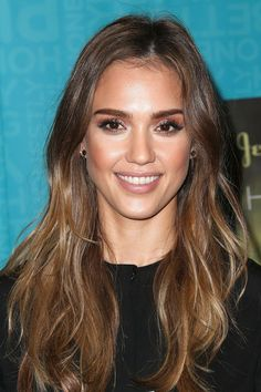 We're always jealous of Jessica Alba's luscious long locks, and they look extra chic when coloured with balayage.