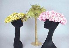 Balenciaga and Other Flowered Hats - Couture and Textiles | Doyle Auction House