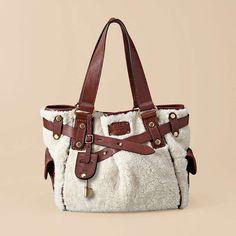 Fossil Adrina Shopper....soft sherpa purse. Someone loan me $300!