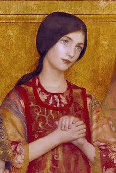 "Thomas Cooper Gotch, ""Allelulia"", detail"