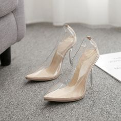 high heel crystal heel women's shoes 35-42 large size spot sandals Sexy High Heels, High Heels Stilettos, Low Heels, Stiletto Heels, Pump Types, Clothing Patches, Cuff Earrings, Toe Shape, Pointed Toe Pumps