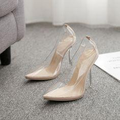 high heel crystal heel women's shoes 35-42 large size spot sandals Toe Shape, Low Heels, Color Blocking, North America, Stiletto Heels, Crystal, Fashion, Sandals, Moda