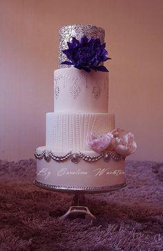 Silver Wedding cake by carolina Wachter…