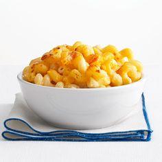 Two-Cheese Mac 'n Cheese Recipe.my little mac & cheese lover had fun helping me make this :) Macaroni N Cheese Recipe, Cheese Recipes, Cooking Recipes, Mac Cheese, Pasta Recipes, Healthy Recipes, What's Cooking, Casserole Recipes